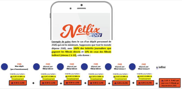 NETFIX exemple de gains